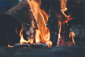 Fire Closeup burning logs