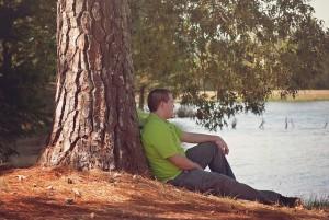 sit by a tree