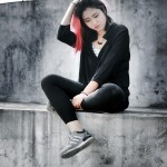 woman unhappy sitting